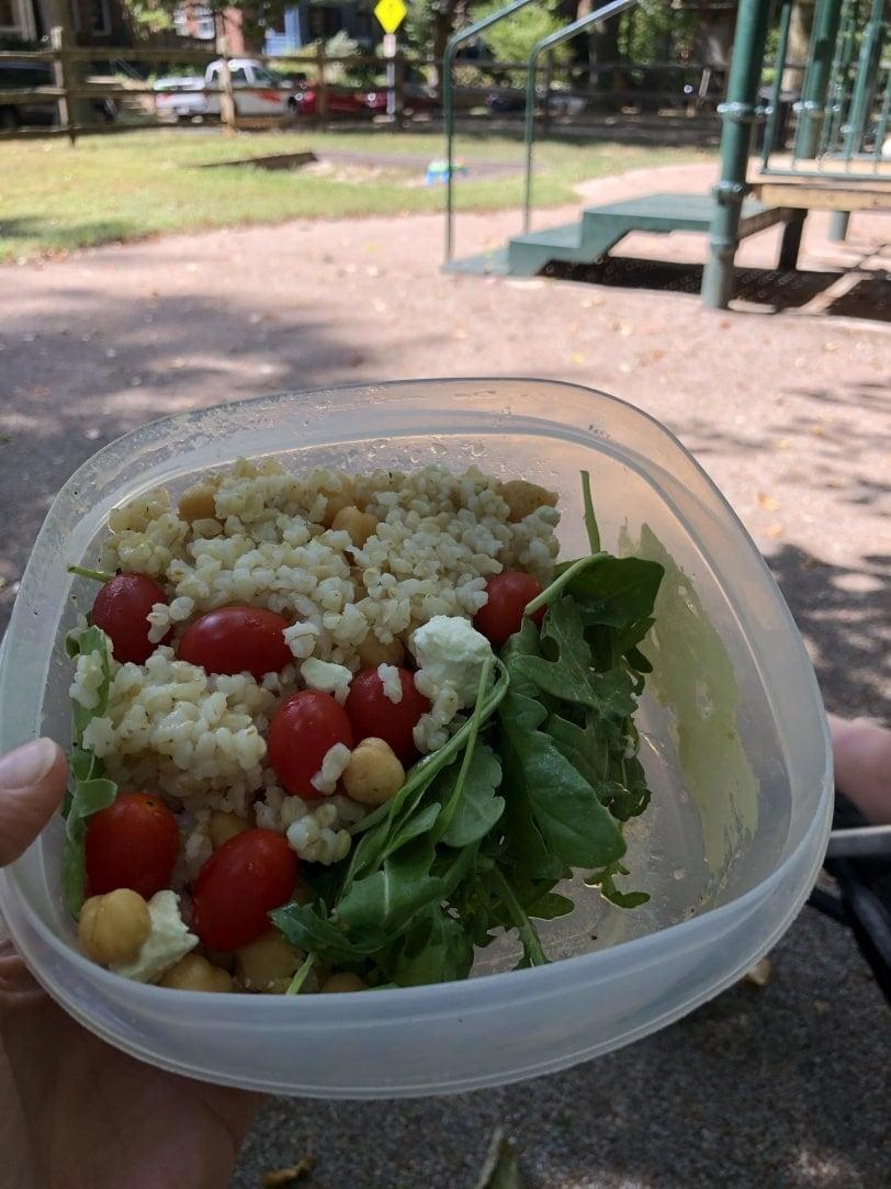 picnic lunch grain salad