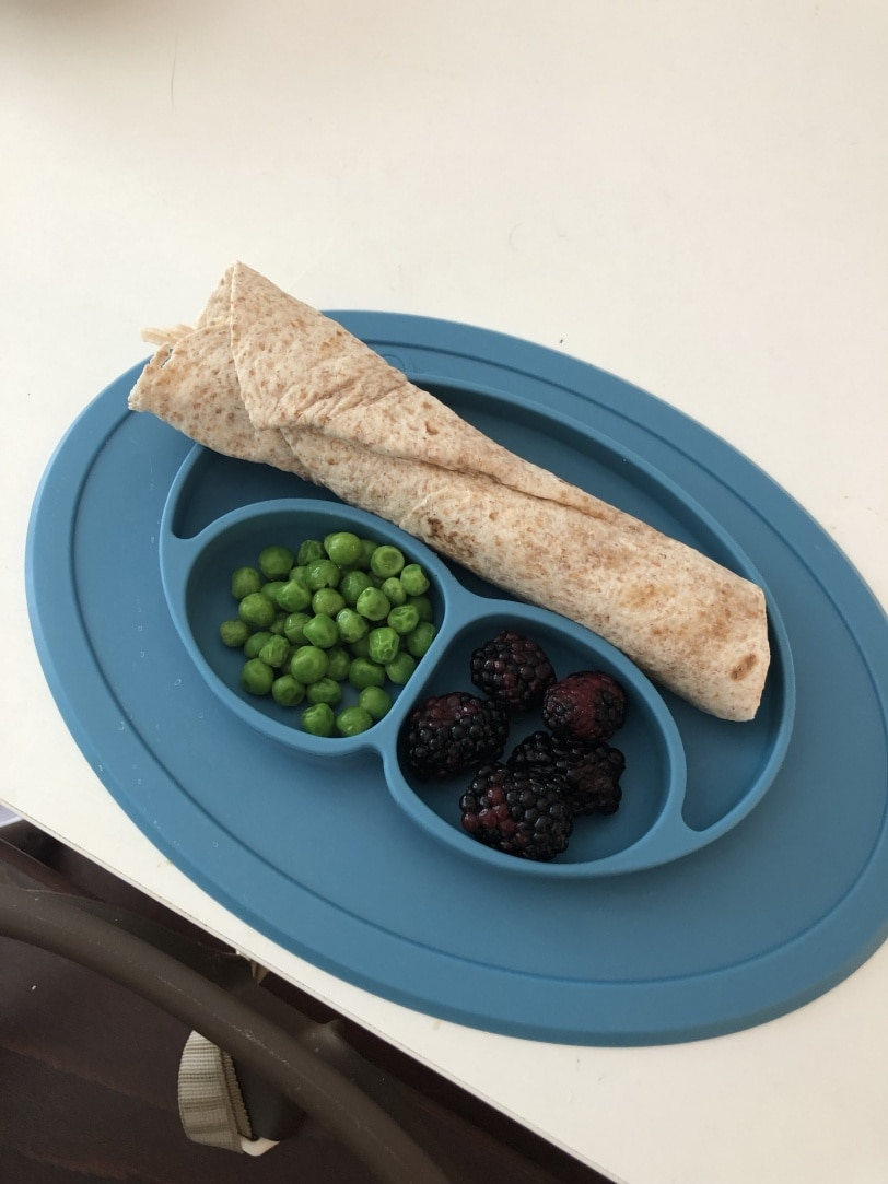 toddler lunch idea healthy wrap