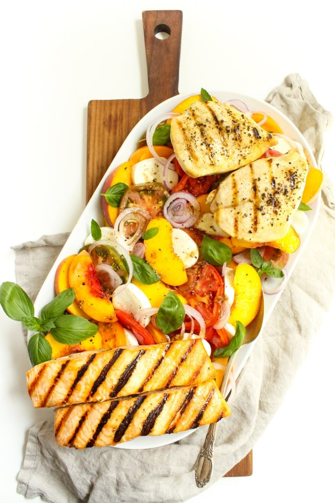 heirloom tomato peach caprese salad5