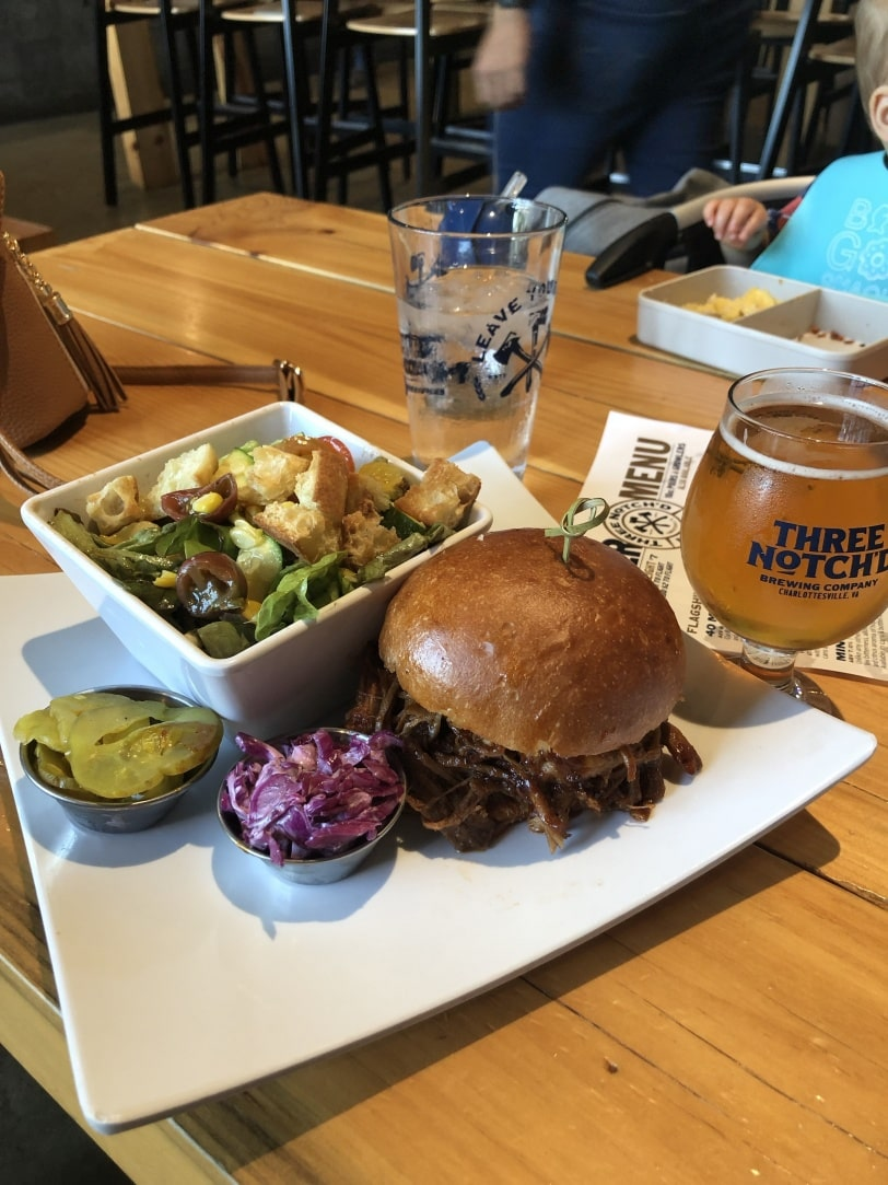 three notchd brewery lunch