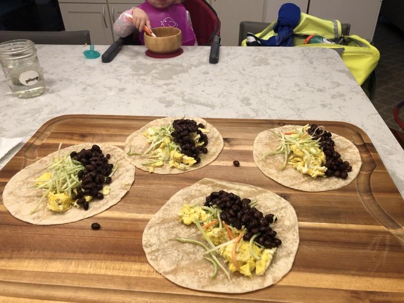make ahead breakfast burritos