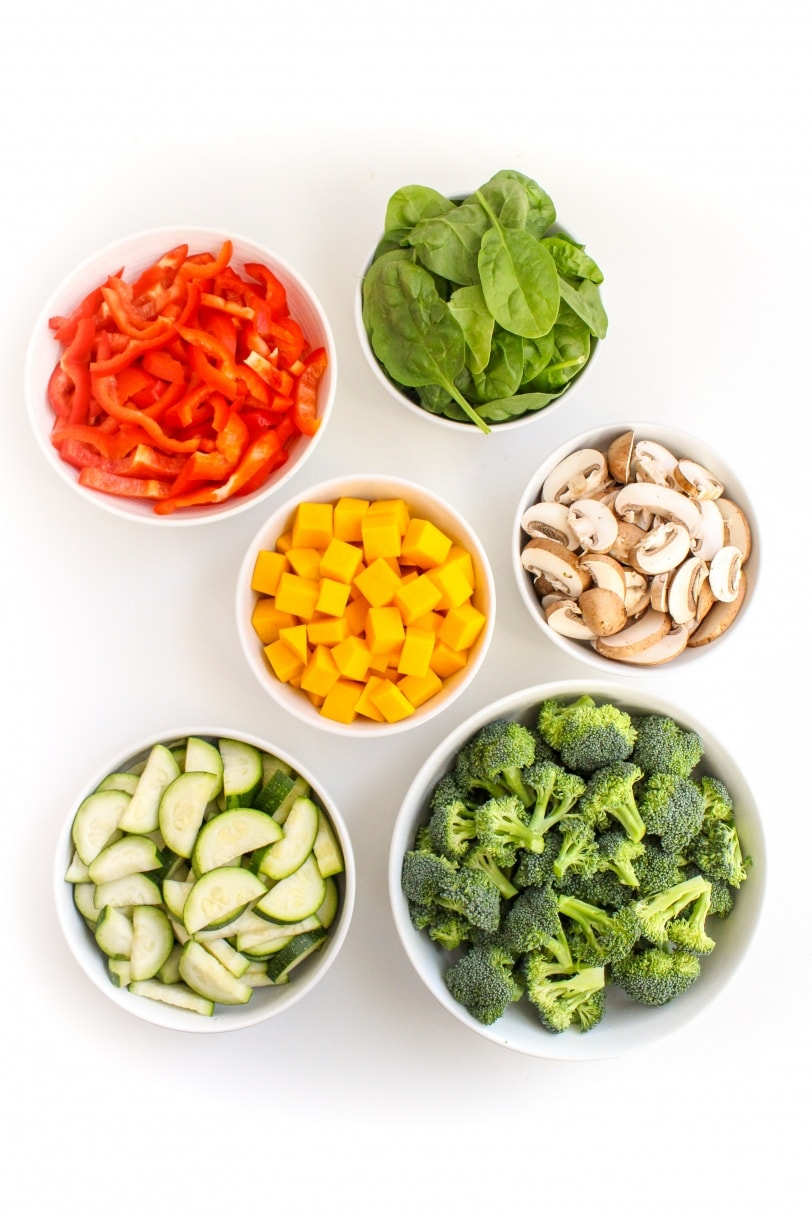 vegetables for pasta