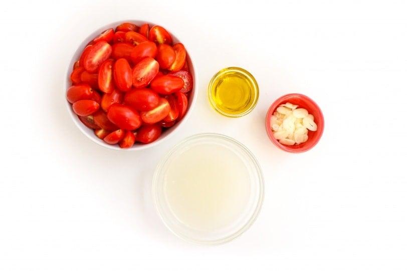 cherry tomato and garlic sauce ingredients
