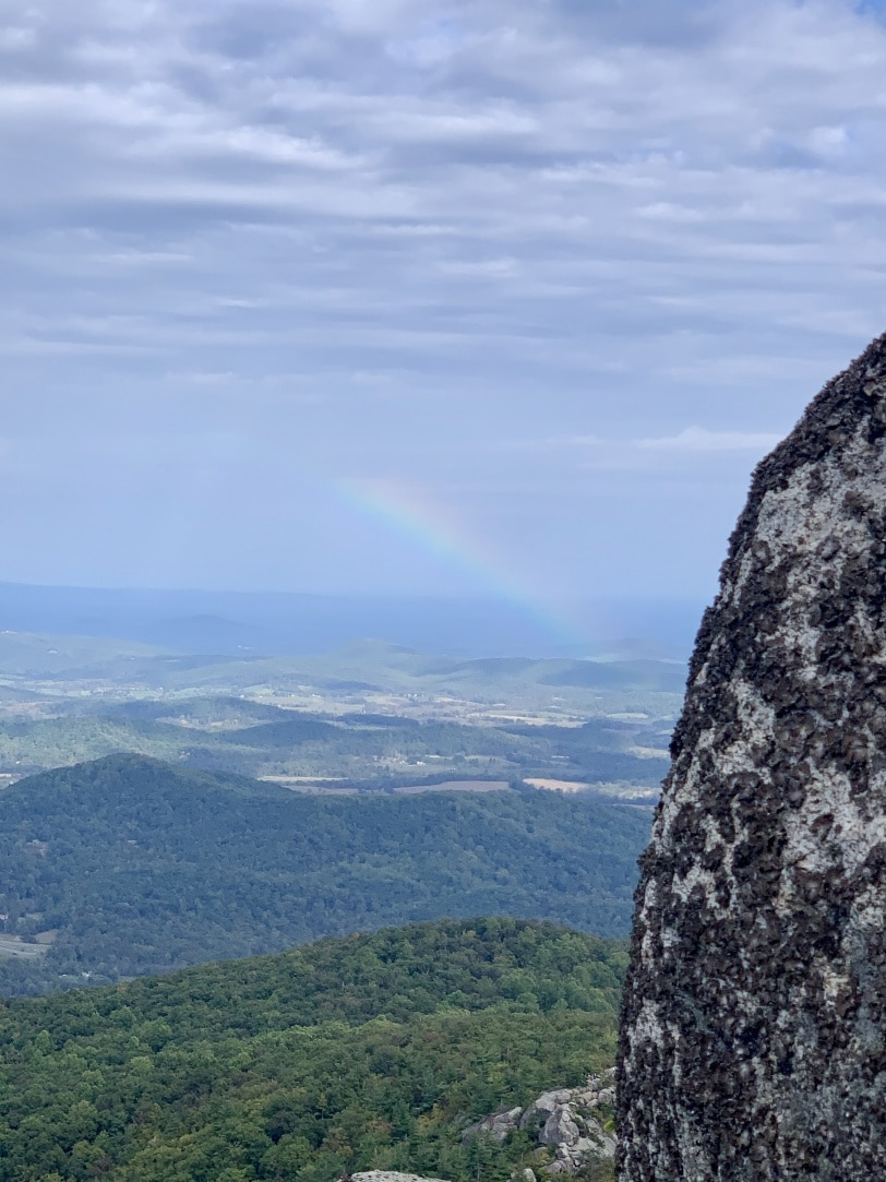 rainbow on old rag mountain summit