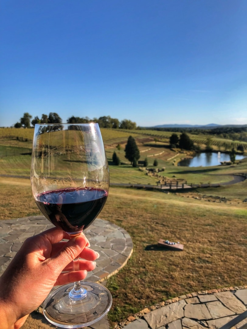 stone tower winery view