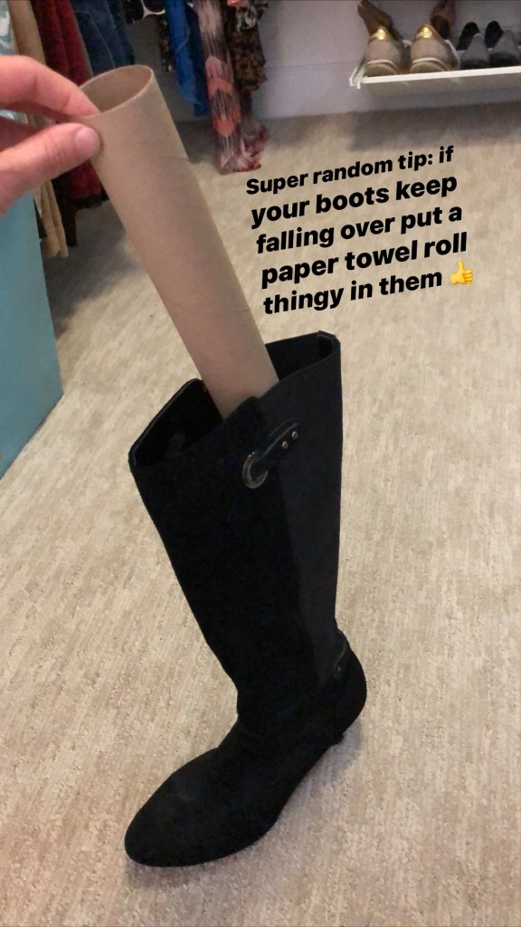 how to keep tall boots upright