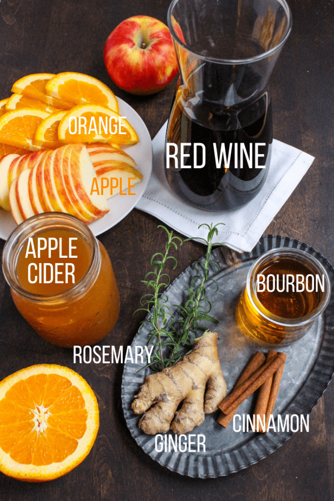 how to make fall sangria - ingredients