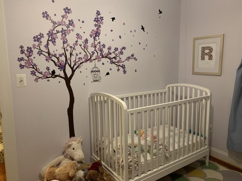 wayfair purple wall decal tree