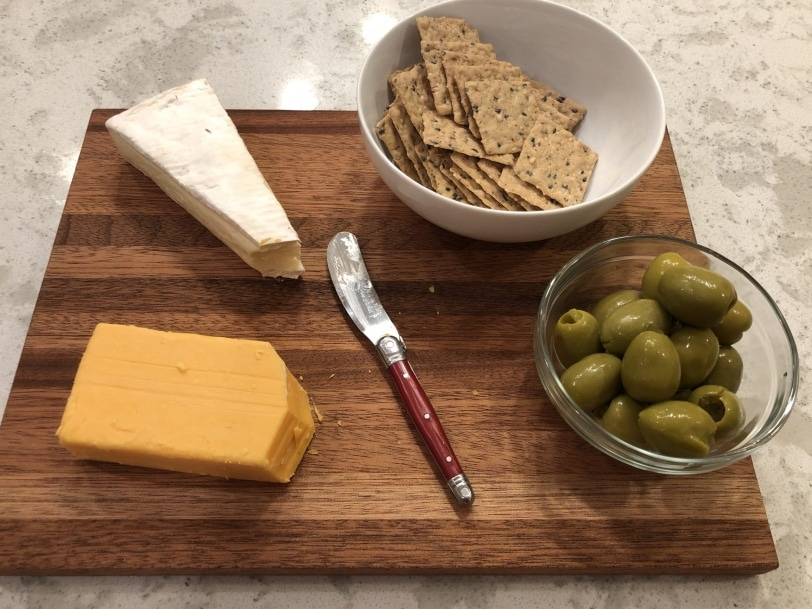 super simple cheese plate