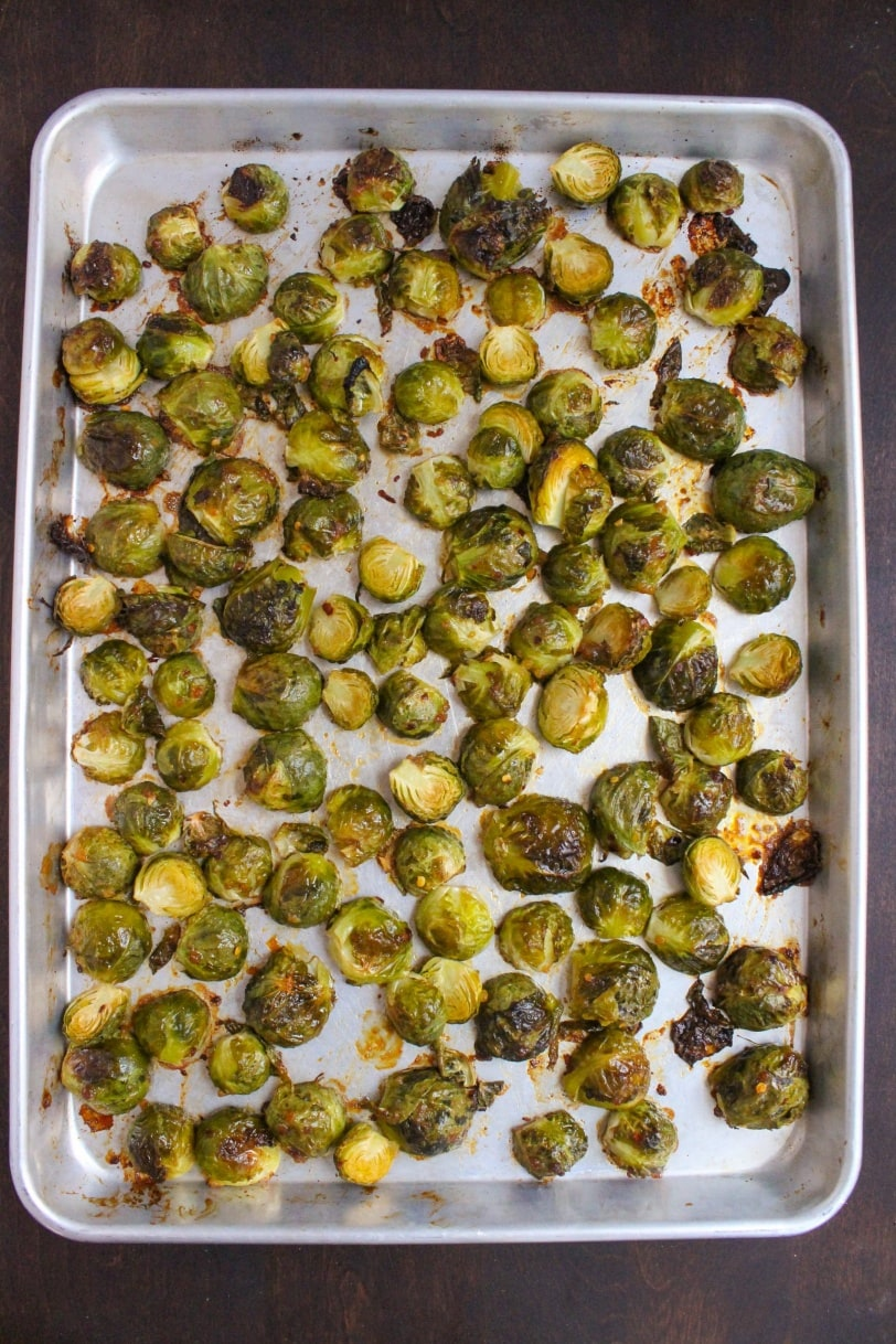 how to roast brussels sprouts on sheet pan
