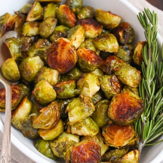 miso honey roasted brussels sprouts