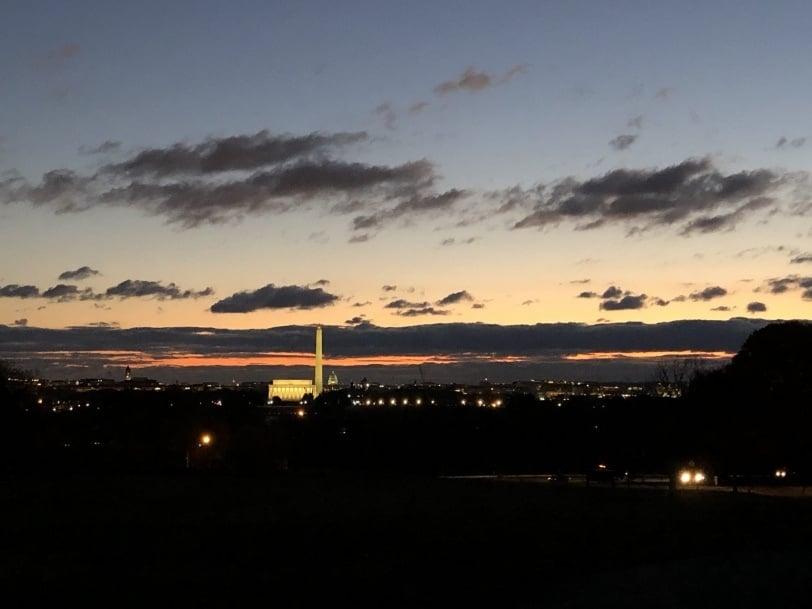 dc morning sunrise