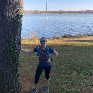 running with pretty views of washington dc