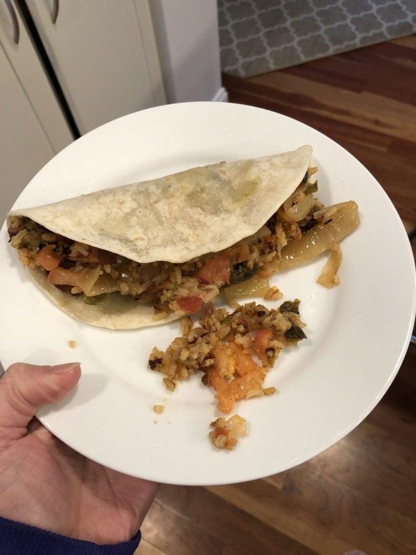 leftover mexican burrito