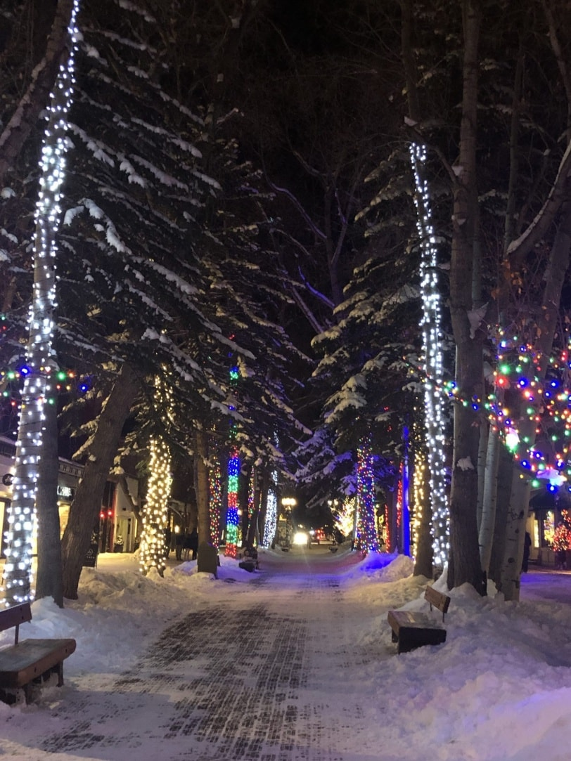 town of aspen at christmas
