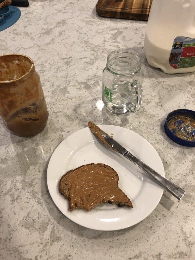 peanut butter toast dinner