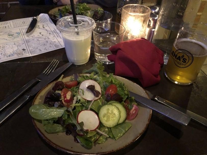 lenas pizza salad appetizer