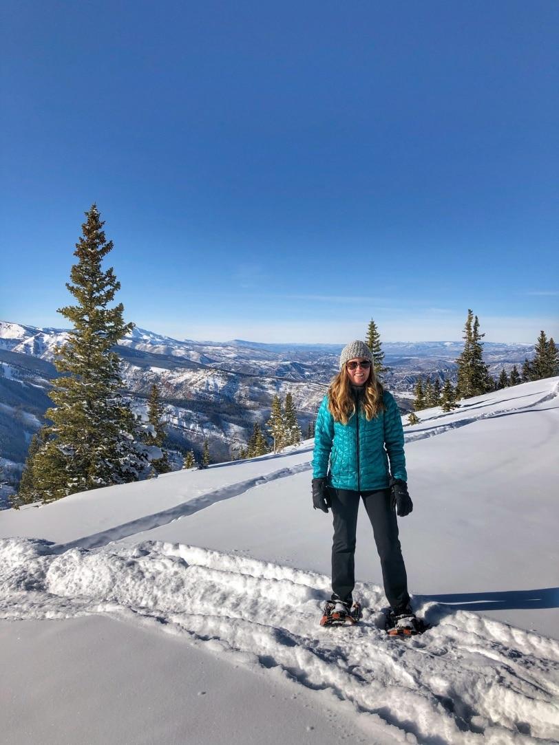 snowshoeing aspen mountain