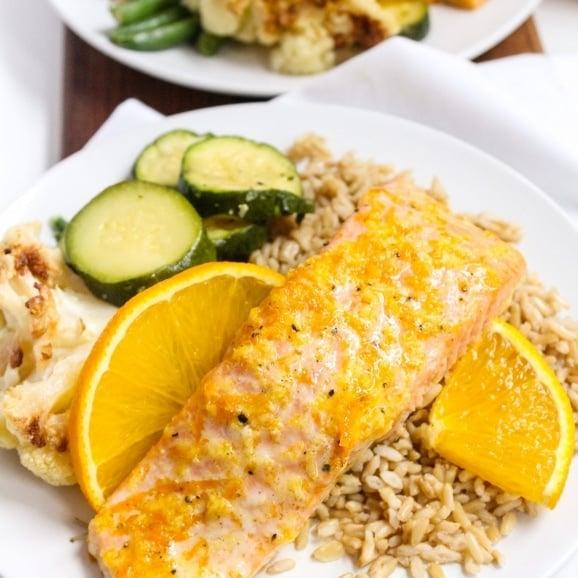 orange ginger salmon