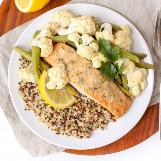 sheet pan salmon easy recipe