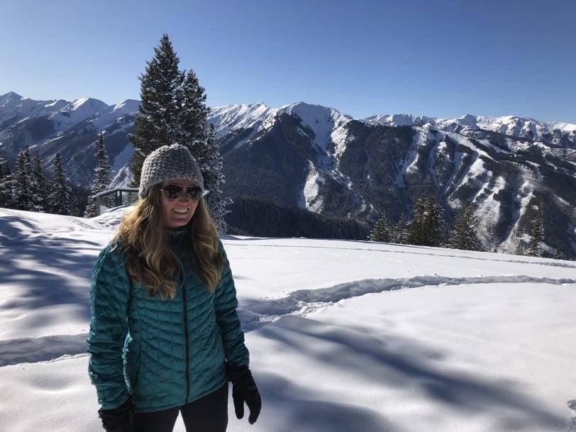 aspen mountain snowshoeing