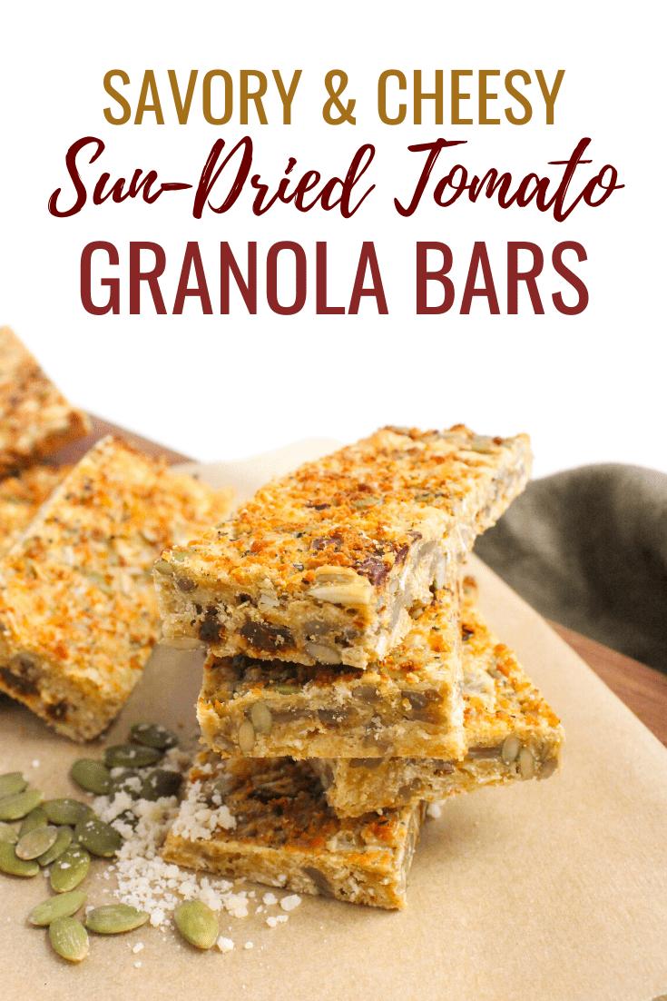 Savory Granola Bar Recipe: Cheesy, Sundried Tomato Pizza Bar