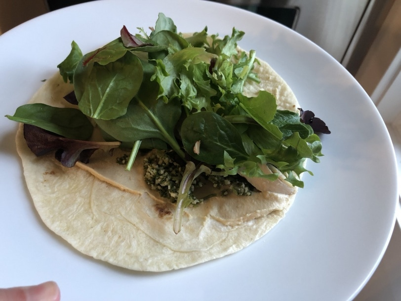 hummus chicken tabouli wrap