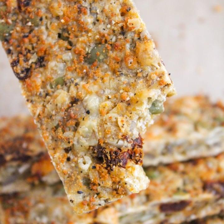 cheesy sun dried tomato granola bars