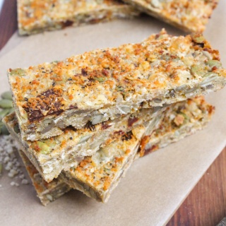 cheesy savory granola bars