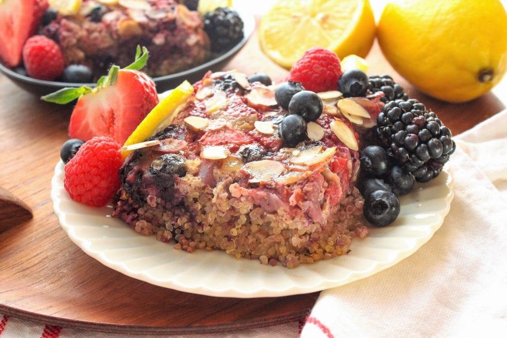 berry lemon quinoa breakfast bake recipe