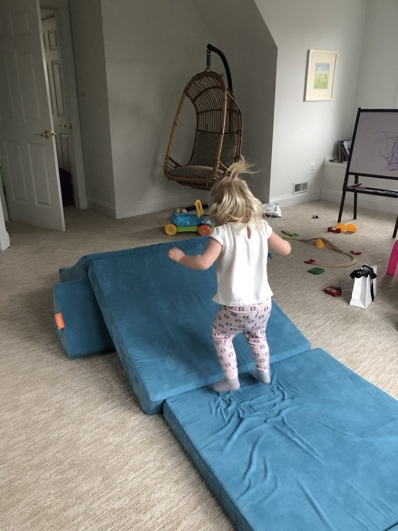 At Home Activities for Toddlers: nugget comfort play couch