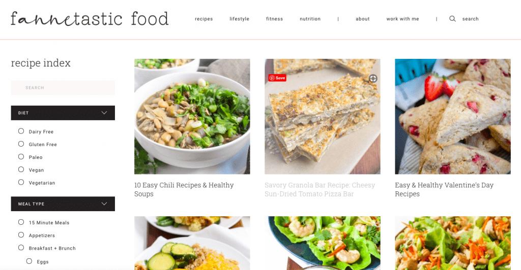 fannetastic food new website design