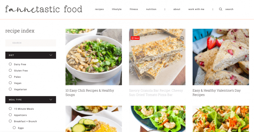 fannetastic food new website design