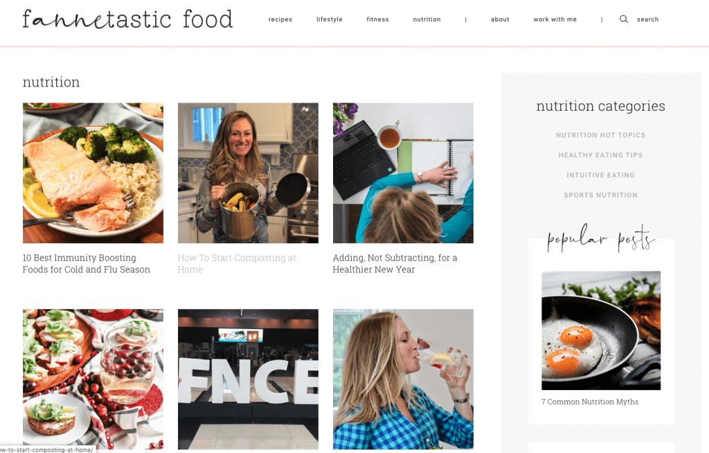 new fannetastic food blog design
