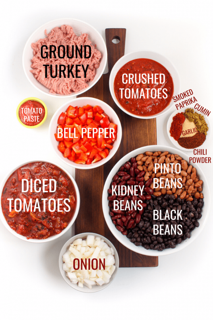 slow cooker turkey chili ingredients