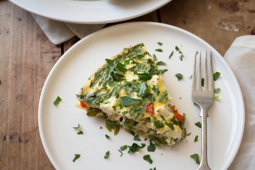 crustless quiche with spring veggies easter brunch recipe