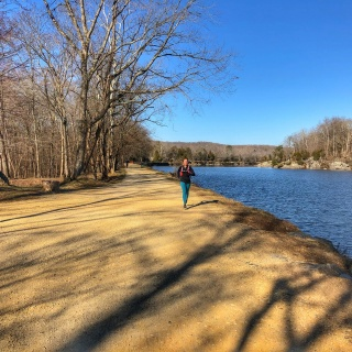 running on the c&o canal trail in potomac md