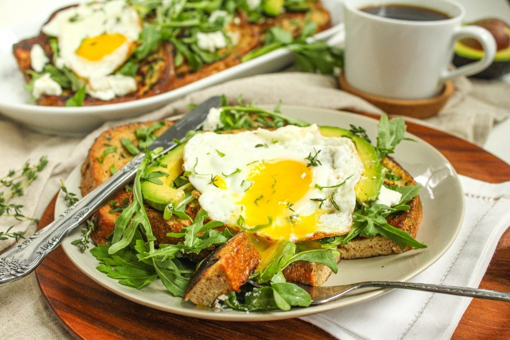 healthy savory french toast recipe for Easter brunch