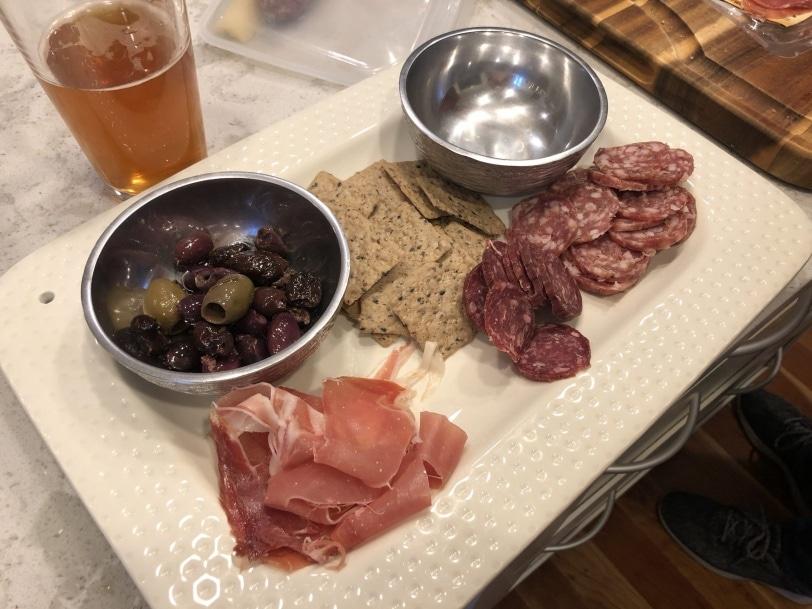 pre dinner snack board