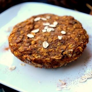 Microwave Pumpkin Oatmeal Cookie
