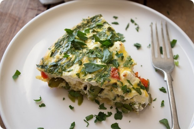 crustless quiche with spring veggies: recipe for Easter brunch