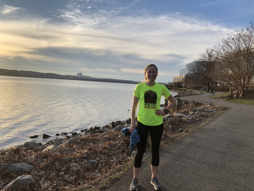 running the mt vernon trail near old town