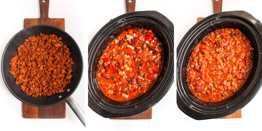 how to make easy turkey chili step by step in pictures