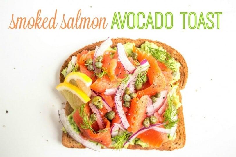 smoked salmon avocado toast recipe