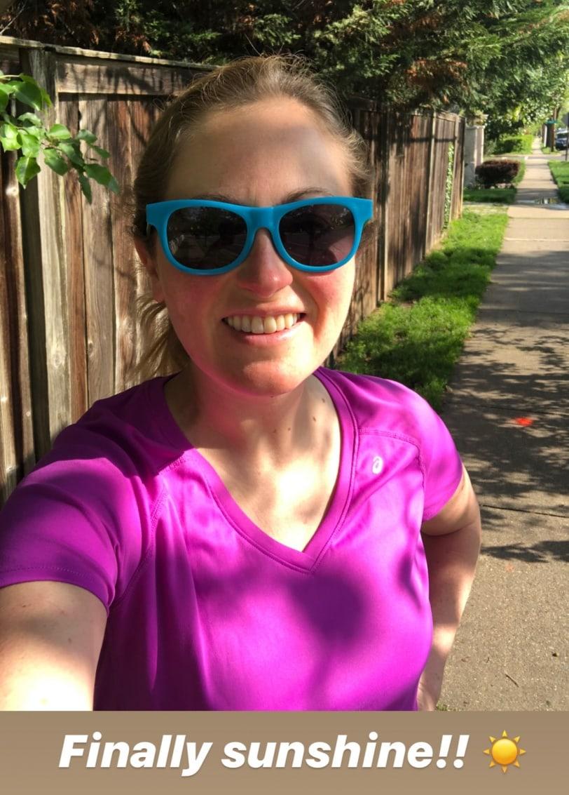 sunshine run/walk phone date photo