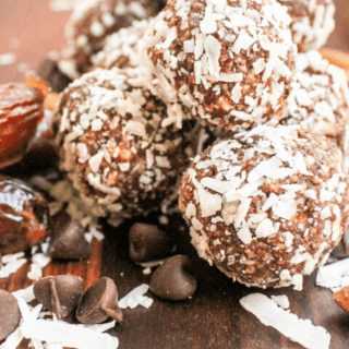 almond coconut snack bites