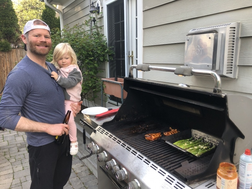 grilling with a toddler