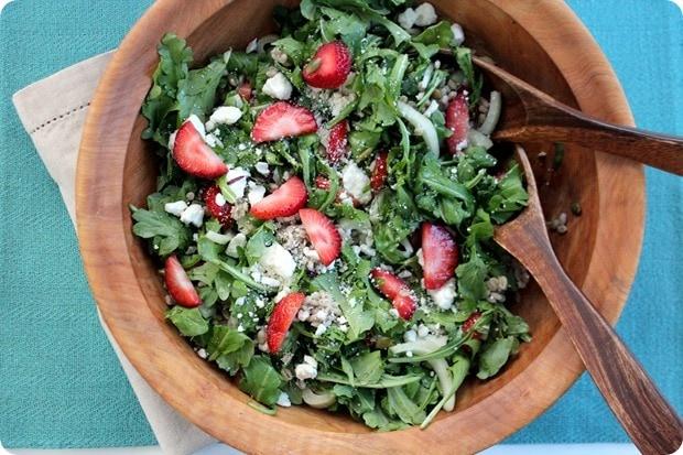 strawberry fennel barley salad