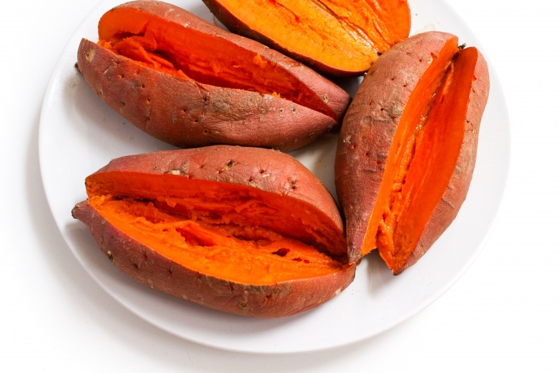 microwave sweet potatoes