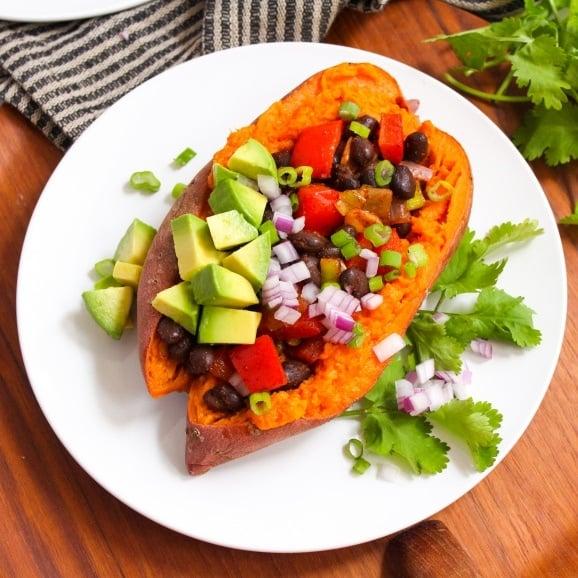 vegan stuffed sweet potatoes recipe